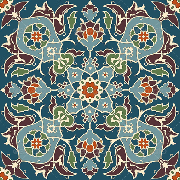 Arabesque seamless pattern 03